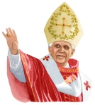 Pope Benedict illustration